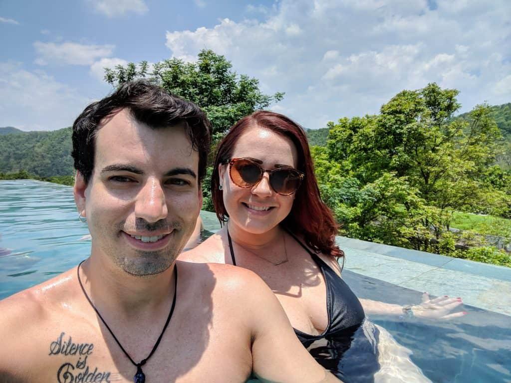 Us in Chiang Mai, Thailand at Veranda Suites